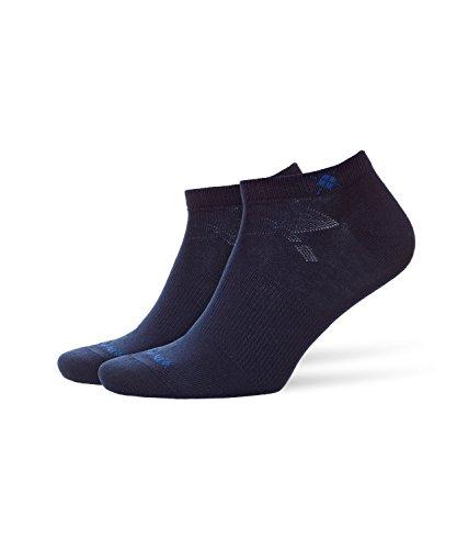 BURLINGTON Herren Sneakersocken Everyday 2-Pack - Baumwollmischung, 2 Paar, Blau (Marine 6120), Größe: 40-46