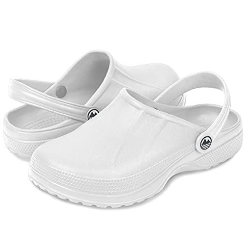 Lakeland Active Zuecos Allonby para mujer, color Blanco, talla 38 EU