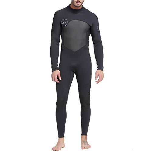 ZEELIY Sommer Neoprenanzug für Herren,volle Länge Neoprenanzug 3mm für Alle Wassersportarten Neue Männer Ganzkörper-Neoprenanzug Schwimmen Tauchen Schnorcheln Surfen Tauchen Anzug