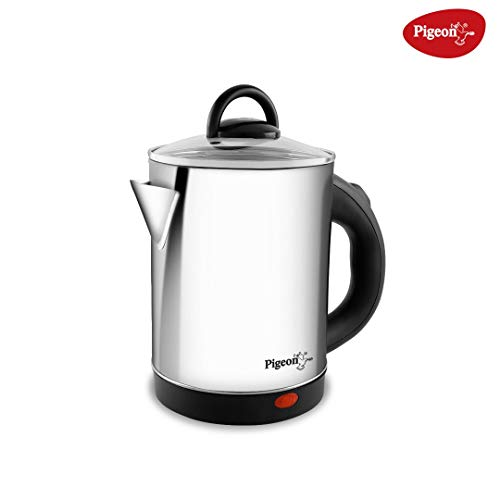 Pigeon by Stovekraft Quartz Electric Kettle with Stainless Steel Body, 1.7 litres with 1500 Watt, boiler for Water, milk, tea, coffee, instant noodles, soup etc