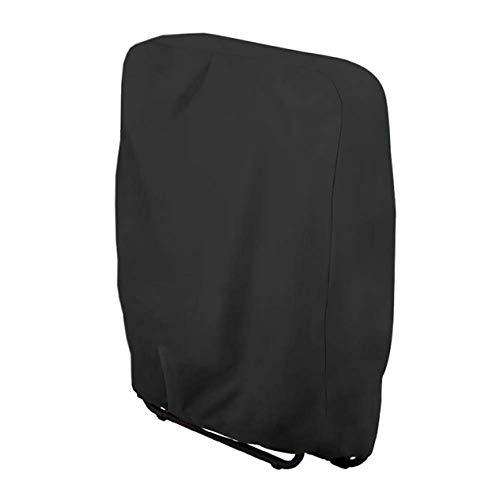 210 Ox Cloth Outdoor Klappstuhl Staubschutz Schutzhülle Wasserdichter Anti-UV-Gartenmöbelschutz (schwarz;) BCVBFGCXVB