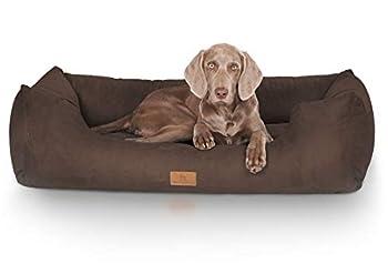 Knuffelwuff panier chien, lit pour chien, coussin, corbeille pour chien Dreamline, marron M-L 85 x 63cm