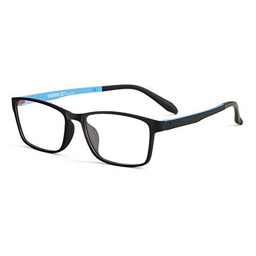 Anti Blue Light Leesbril Progressieve Multifocale Doorzichtige Glazen En Metalen Frame Prebyopia Hyperopie Spectacles Voor Mannen En Vrouwen,Black blue,+1.00