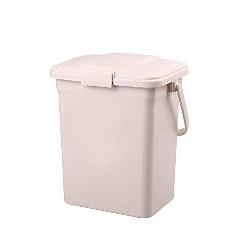 Dans engel Draagbare Prullenbak 15L, Met Afdichting cap En Deodorant opbergdoos Vuilnis Recycle Container Voor keuken WC woonkamer kantoor buiten Camping