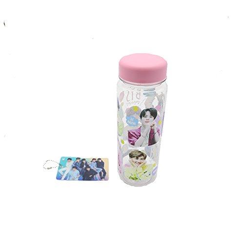 BTS Bangtan Boys Kpop Photos Printed Water Bottle with Key Chain Card (Group)