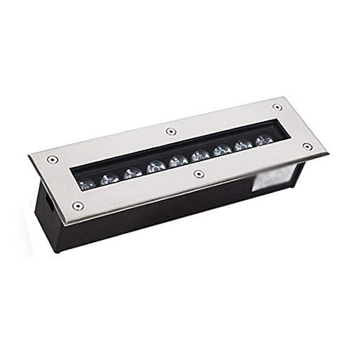 LED Lámpara Empotrable Incrustado Rectángulo IP68 Impermeable AC220V Iluminación De Ingeniería Al Aire Libre Cuadrado, 9W, 12W, 18W, 24W, 36W (Color : E, Size : 24W)