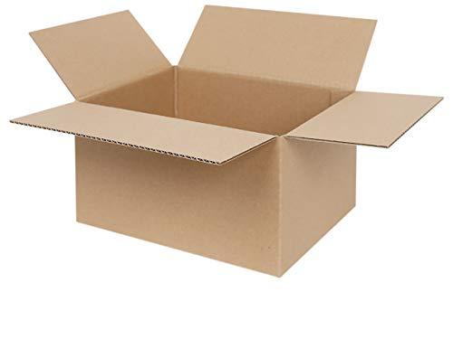 100 Faltkartons 250 x 200 x 140 mm | Versandkarton geeignet für Versand mit DHL, DPD, GLS und Hermes | 25-1000 Kartons wählbar