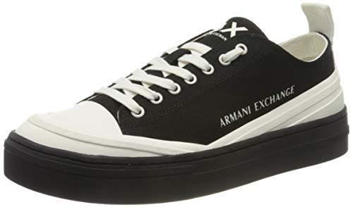 Armani Exchange Recycled Cotton Box Sole Sneakers, Zapatillas para Hombre