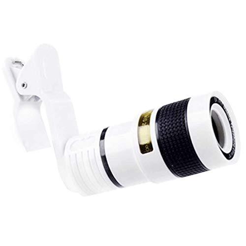 Universal 12X teleobjetivo lente del teléfono móvil enfoque zoom telescopio cabeza cámara HD externa 12 veces lente