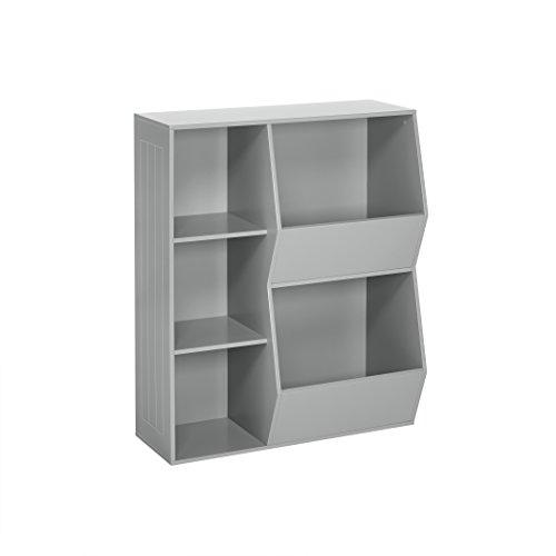 RiverRidge 02-147 2-Veggie Bin Kids Floor Cabinet, Gray