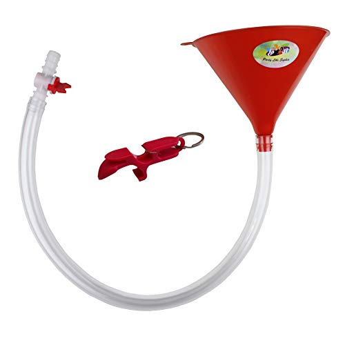 Beer Bong Funnel with Valve - USA Made Extra Long...