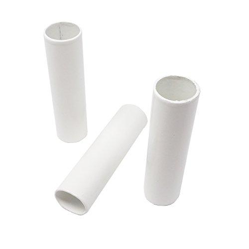 Hochwertige E14 Kerzenhülse ø23mm Innen 3 Stück Fassungshülse aus Pappe glatt L. 100mm weiß lackiert