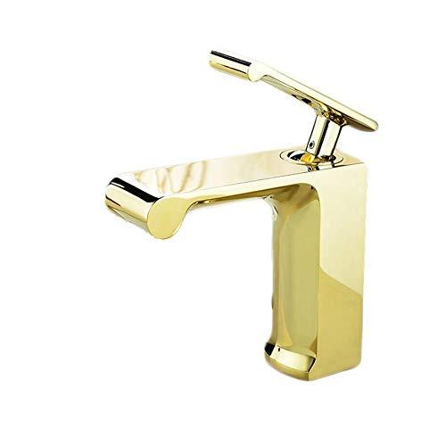 Waschtischarmaturengolden European Alle Kupfernen Heißen Und Kalten Becken Wasserhahn Einlass Waschbecken Becken Wasserfall Wasserhahn.