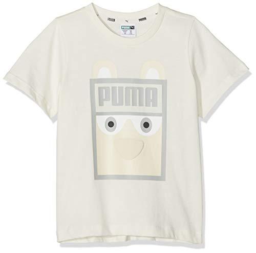 PUMA Kinder Monster Tee Unisex T-Shirt, Whisper White, 104