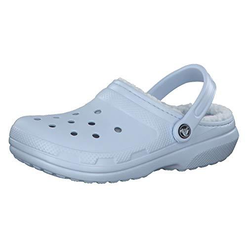 Crocs Classic Lined Zoccoli, Unisex Adulto, Blu (Mineral Blue/Mineral Blue), 37/38 EU