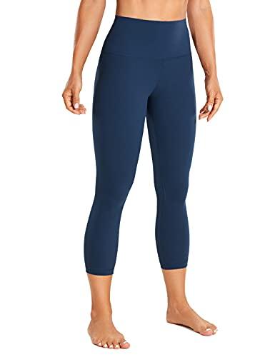 CRZ YOGA Mujer Leggins Cintura Alta Mallas Pantalones de Deporte Fitness -53cm Azul propileno 44
