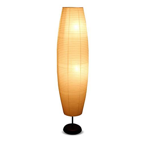 Lampadaire en papier E14, lampadaire LED avec abat-jour en papier, lampadaire pour salon, chambre à coucher, lampe décorative 137x32cm