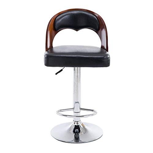 Barhocker Retro Holz Bar Hochstuhl Coffee Bar Rotating Chair Küchentheke Hocker Dining Chair Barhocker für die Küche (Farbe : Black, Size : 39x39x64cm)