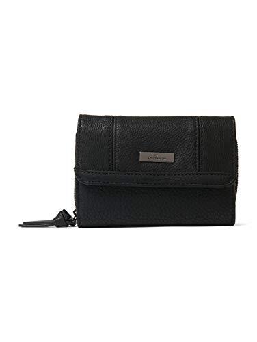 TOM TAILOR Damen Taschen & Geldbörsen Überschlagbörse Juna schwarz/black,OneSize