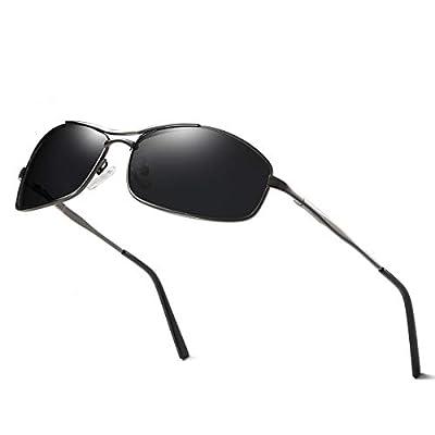 ELITERA Polarized Sunglasses for Men Women UV Protection Metal Frame with Sunglasses Case (Grey&grey)
