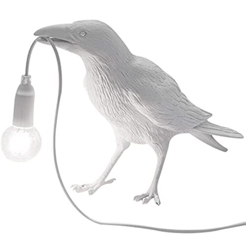 GUOYULIN Lámpara De Mesa De Pájaro para Dormitorio, Lámpara De Escritorio De Cuervo De Resina, Iluminación De Luz De Noche para Dormitorio, Oficina, Muebles De Animales, Decoración del Hogar