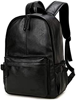 Korean version Fashion Stylish Leather Shoulder bag backpack high capacity travel bag 15inch laptop bag For Men