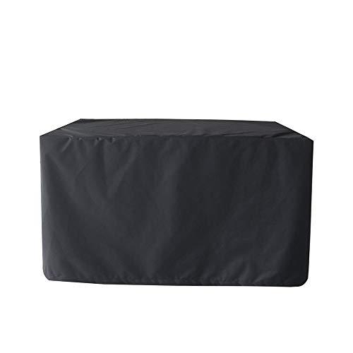Goldenla robuuste rechthoekige tuintafel met stoelbekleding, vochtbestendige stof, antistatisch, zwart