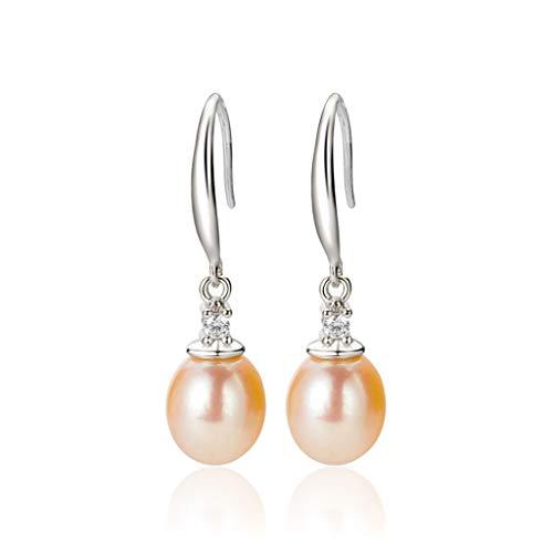 Hongyan Orecchini di Perle Orecchini di Argento Puro Orecchini Orecchini di Alta qualità