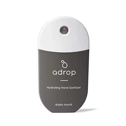 adrop Desinfectante de Manos Hidratante en Spray | La nueva generación en higiene | Con Aloe Vera y Aceites Esenciales | Antiséptico | 40ml para manos secas | Hecho en España