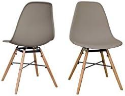 Zons Morry Chaise en PP Noir 52X46.5XH80Cm