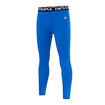 youth royal blue compression pants