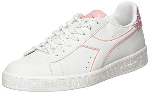 Diadora Game P Wn, Scarpe da Fitness Donna, Bianco (White/Blossom C6604), 37 EU