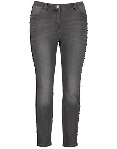 Samoon Damen 320001-21309 Straight Jeans, Grau (Grey Denim 1979), (Herstellergröße: 50)