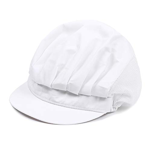 Yougth Chic Restaurant Catering Hotel Chef Cap Hair Nets Cook Hat Food Service(White)