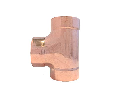 Libra Supply DWV 2 inch, 2'', 2-inch Wrought Copper Sanitary TEE C x C x C, (Click in for more size options) DWV Copper Pressure Pipe Fitting Plumbing Supply