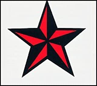 Red & Black Nautical Star 1.5