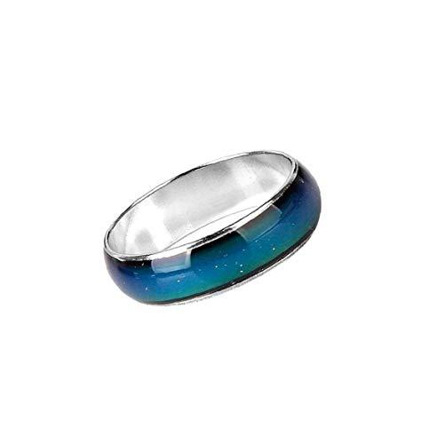 Anillo mágico de emoción de emoción, color cambiable, anillo de aleación de color cambiante anillo de dedo joyería para hombres mujeres mujeres belleza