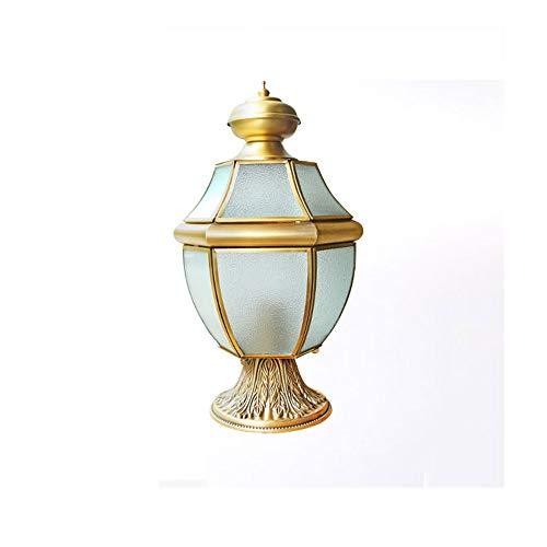 Libuty Villa cuivre Lampe de Mur extérieur Lampe de Jardin Lampe d'extérieur Villa Lampe d'éclairage tête de Colonne E27, Outdoor Lumières Luminaires Bronze Jardin et extérieur