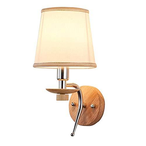 RUIXINBC Binnen RVS wandlamp, lampenkap van stof wandlamp, gouden smeedijzeren decoratie afbeelding verlichting geschikt voor slaapkamertrappen