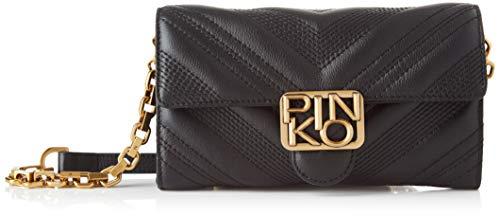 Pinko 1P21UY_Y6JJ, Logo Wallet CHEVRONNE C VITELL Donna, Z99_Nero Limousine, U