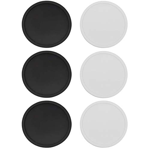 Coastee Silicone Coasters Glass Coasters Round Non-Slip Drinks Coasters Heat Resistant Table Top Protection for Drinks, Glasses, Vases Pack of 6