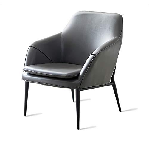YANGDONG Sofá Pequeño De Cuero De PU Gris/Verde, Sentado Cómodo, Sofá Simple Sencillo, Adecuado para Sala De Estar/Dormitorio (Color : Gray1)
