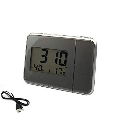 LKU Wekker Weerstation thermometer functie projectie wekker datum display digitale klok USB oplader
