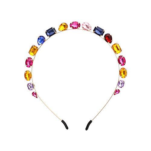 Einfache farbige Harz Edelstein Haar Reifen Süßigkeiten farbigen Wasser bohren Haar Krone Kopfschmuck Prozessfarbe