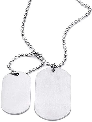 NC122 Collar Colgante Joyería Placa de identificación Popular Hecha de Acero Inoxidable Titanio Acero Mate Militar