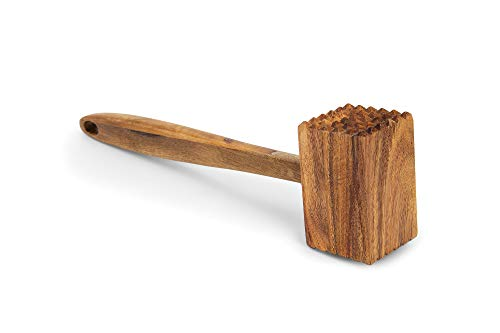 Ironwood Gourmet Acacia Wood Meat Tenderizer, 12-Inches, Brown