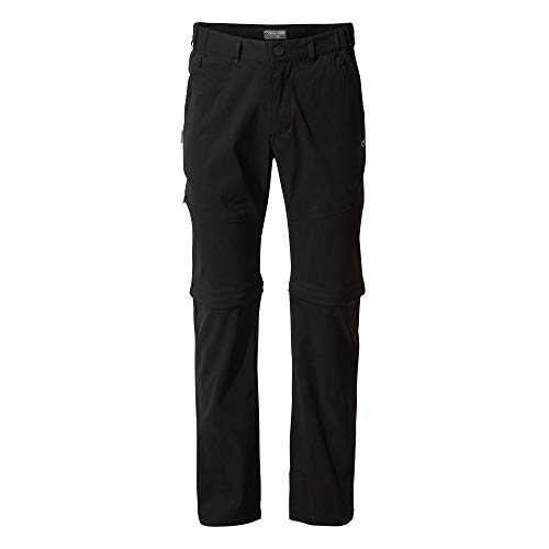 Craghoppers Kiwi Pro - Pantalones Convertibles para Hombre, pantalón, Hombre, Color Negro, tamaño 30