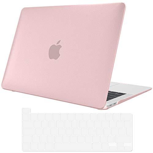 ProCase Hülle für MacBook Pro 13 Zoll 2020 Abdeckung A2289/A2251 Case Cover,Ultraflaches,durchscheinendes,Gummibeschichtetes Hardcover Gehäuse für MacBook Pro 13.3 –KlarPink
