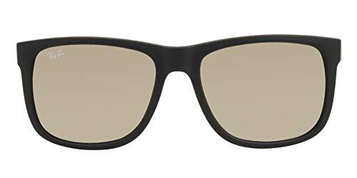 Auténtico Ray-Ban Justin RB 4165 622/5A 55mm Caucho Negro/Luz Oro Espejo en Caja