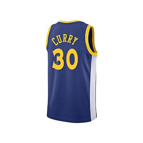 BCVDF Camisetas de Baloncesto para Mujer, Warriors Curry 30# Camisetas, Regalos para fanáticos y Familiares S Blue